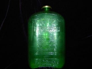 Bottle Green Depression Glass Refrigerator Bottle 1931 Sept 15