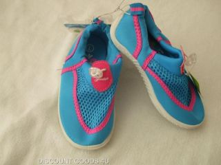 New Speedo Water Shoes Girls Beach Shoes Size Large 9 10 Blue Pink