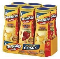Gerber Graduates Baby Finger Foods Fruit Puffs Variety Pack Healthy