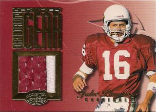 Certified Gridiron Gear Jake Plummer Patch card /300 Arizona Cardinals