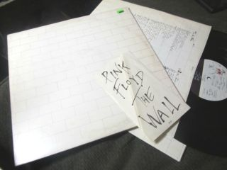 Pink Floyd The Wall 2 LP Original 79 w lyrics gatefold no barcode rare