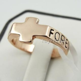 New 18K Gold Plated Forever Cross Ring 01 0043
