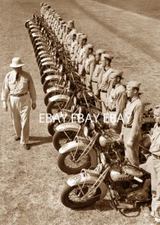 Early Harley Davidson Motorcycle Texas Highway Patrol Patrolman Photo