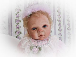 Reborn Baby Doll Sweet Baby Girl with Micro Rooted Human Hair Adrie