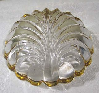 Art Deco Shell Design Glass Bowl Scalloped Edge Beautiful
