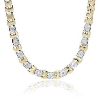 Garavelli 18K Two Tone Gold Diamond Necklace