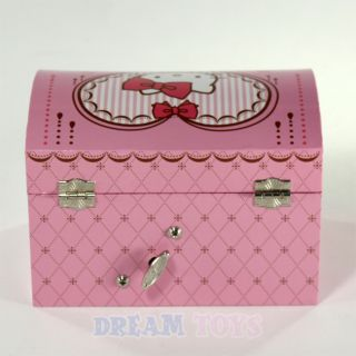 Sanrio Hello Kitty Pink Musical Jewelry Box Girls Accessories