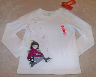 Gymboree Merry Bright Skating Girl Snowflke Top 7