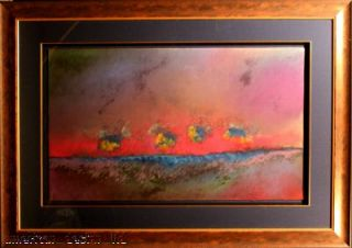 Mark Dickson Original Pastel on Paper Abstract Art Hans Signed Make An