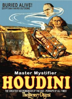 HARRY HOUDINI MAGIC SHOW TRICK MASTER MYSTIFIER SPHINX MAGICIAN NEW