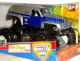 GRAVE DIGGER THE LEGEND 30 ANNIVERSARY 1 24 SCALE HOT WHEELS MONSTER