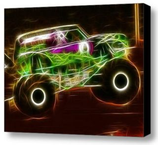 Grave Digger Monster Truck Magical 9x12 Framed Art Limited Edition