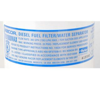 Searay Racor Parker 751000MAX30 Boat Fuel Water Filter