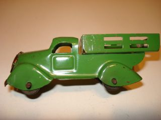 Stake Truck RARE Small Trailer Wheels Copper Grill Orig 1940