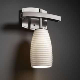 Justice Design Group Limoges One Light Wall Sconce   POR 8856