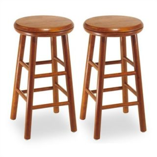 Winsome 24 Backless Swivel Counter Stool (Set of