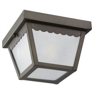 Sea Gull Lighting Outdoor Ceiling Fixture in Antique Bronze   75467
