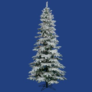 Flocked Utica Fir 7.5 Artificial Christmas Tree with Multicolored LED