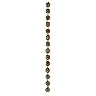 Monte Carlo Fan Company 250 ft Roll Beaded Chain in Antique Brass