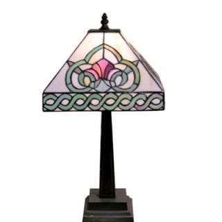 Warehouse of Tiffany Floral Mission Style Table Lamp   1338+MB107
