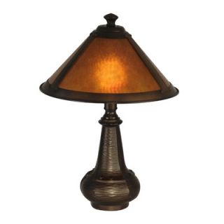 Dale Tiffany Hunter Mica Accent Table Lamp in Antique Bronze