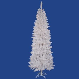 Vickerman Crystal White Spruce 9 Pencil Artificial Christmas Tree