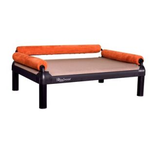 DoggySnooze SnoozeSofa Dog Bed with Long Legs and a Black Anodized