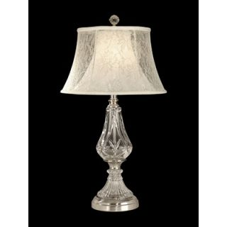 Dale Tiffany One Light Crystal Table Lamp in Chrome