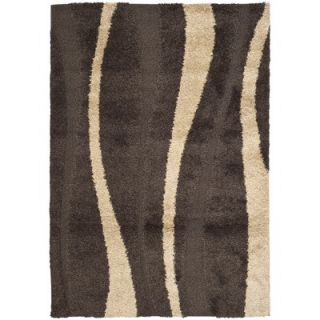 Safavieh Florida Shag Dark Brown/Beige Rug   SG451 2813