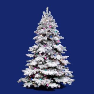 Vickerman Flocked Alaskan 7.5 Artificial Christmas Tree with