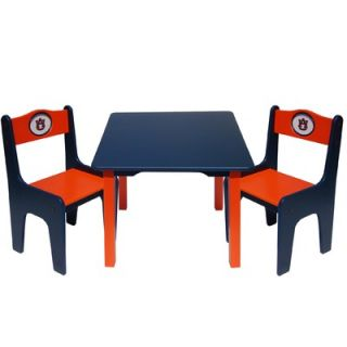 Fan Creations NCAA Kids 3 Piece Table and Chair Set