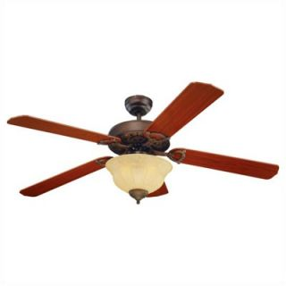 Monte Carlo Fan Company 52 Ornate 5 Blade Ceiling Fan   5OR52EPD
