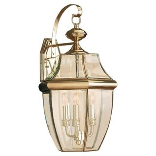 Sea Gull Lighting Classic Outdoor Wall Lantern in Polished Brass