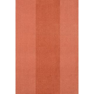Dash and Albert Rugs Woven Yacht Stripe Terracotta Stripe Rug
