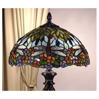 Dale Tiffany Floral Table Lamp in Fieldstone   TT100588