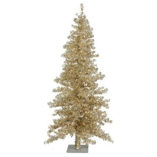 Vickerman Champagne Wide Cut 7.5 Artificial Christmas Tree with Clear