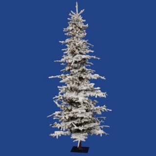 Vickerman Flocked Georian Fir 9 Artificial Christmas Tree with Clear