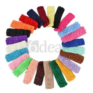 50 Stretch 1 5 Crochet Baby Girls Hair Band Headbands