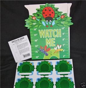 Lady Bug Watch Me Grow Growth Chart Set Personalizednip