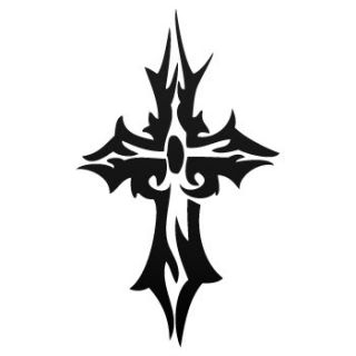 Vinyl Decal Sticker Heavy Metal Rock Cross Symbol ZK633