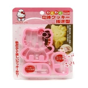 Hello Kitty 3D Cookie Cutter Stamp Mold