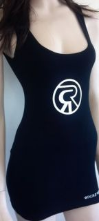 Rock and Republic Black Tunic Tank Top Ribbed Size Medium Womens Girls
