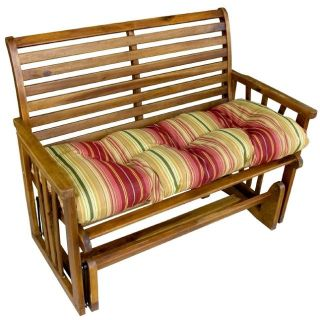 Greendale Home Fashions 46 inch Outdoor Swing Bench Cushion Kinnabari