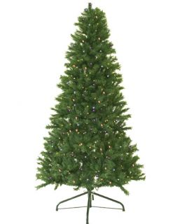 Pre Lit Canadian Pine Artificial Christmas Tree Multi Lights