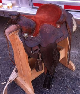 Hereford Tex Tan Pleasure Trail Saddle 15 inch with Silver