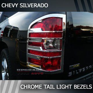 2007 2013 Chevrolet Silverado Chrome Tail Light Bezels