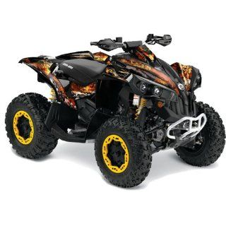 AMR Racing Can Am Renegade 800x 800r ATV Quad Graphic Kit   Fire Storm