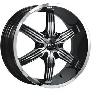 Motiv Motion 20x9 Chrome Black Wheel / Rim 6x5.5 with a 25mm Offset