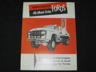 1960 Marmon Herrington AWD Ford Trucks Sales Brochure