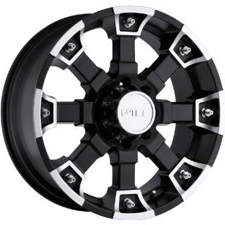 Tec Brutal 20 Matte Black Wheel / Rim 8x170 with a 18mm Offset and a